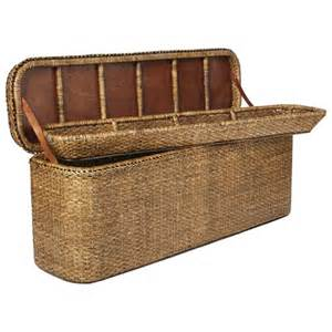 chest for end of bed rattan indochine bed end chest oka