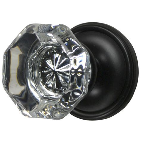 Rubbed Bronze Glass Door Knobs by Door Knob Providence Style Plate