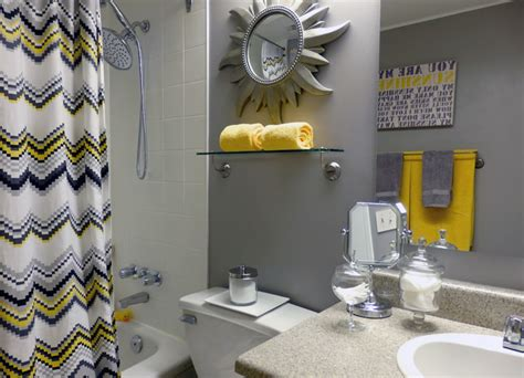 grey and yellow bathroom contemporary toronto by dominika pate interiors