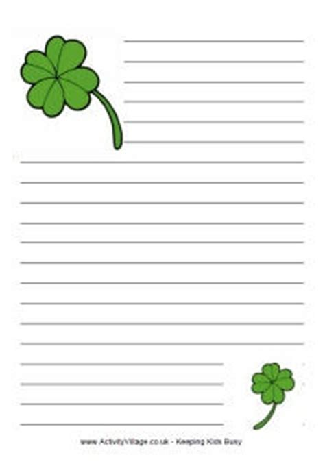 st patricks day writing paper st patricks day writing paper classroom ideas
