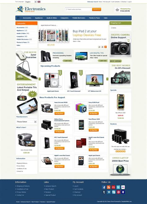 os commerce templates osc040088 premium oscommerce electronics store template