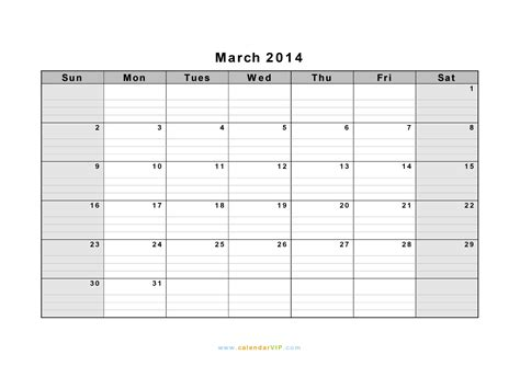 calendar template with notes for everyday landscape hot march 2014 calendar blank printable calendar template in