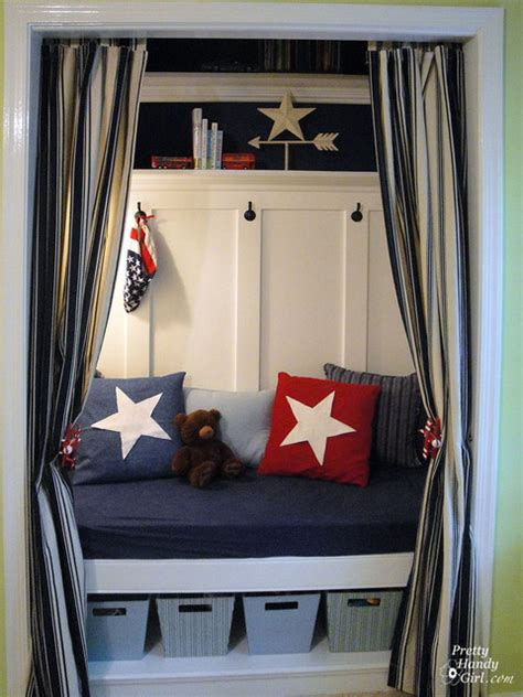 Closet Reading Nook by Closet Turned Into A Reading Nook Traditional
