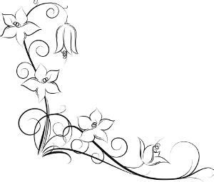 black and white vine pattern flower tattoo design pictures