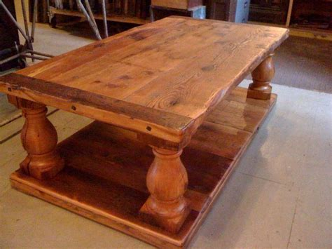 custom farmhouse style coffee table by house parts co