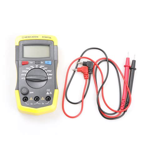 capacitor test digital meter new digital diaplay meter capacitance capacitor tester test tools w probes ebay