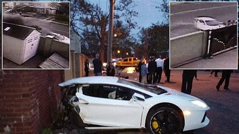crashed white lamborghini lamborghini aventador sliced in half in brooklyn car crash