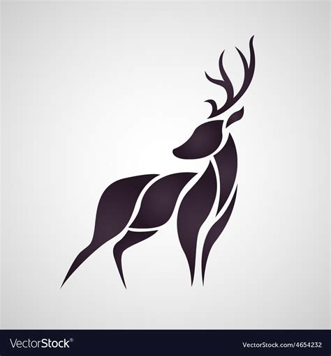 deer logo royalty free vector image vectorstock