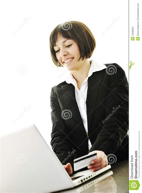 Women Making Money Online - business woman making online money transaction stock image image 13238351