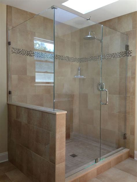 Glass Shower Doors And Walls Do We Put A Half Wall Showerman Frameless Shower Door Bathroom We Shower Doors