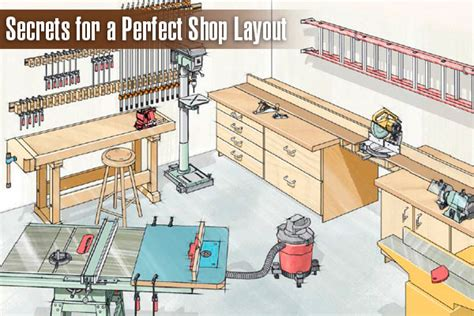 workshop layout tips secrets for a perfect shop layout http www kregtool com