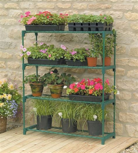Plant Rack Outdoor by Plant Shelves Greenhouse 4 Plant Shelf Outdoor Garden Growing Staging Ebay