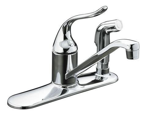 kohler kitchen faucets home depot kohler coralais single kitchen sink faucet in polished chrome the home depot canada