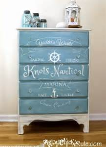 themed dresser top coastal nautical furniture makeovers from wicker chairs to side tables to dressers