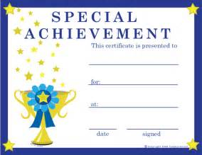 Spot Award Certificate Template by Free Special Achievement Certificates Certificate Free