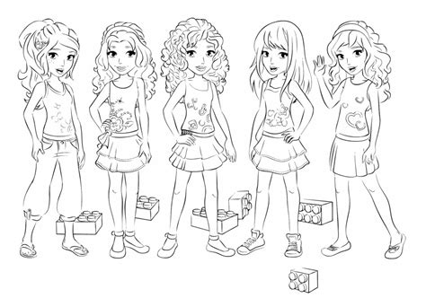 Lego Friend Coloring Pages lego friends coloring pages az coloring pages