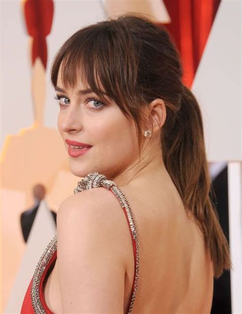 dakota johnson faceshape 13 ways to get the best bangs for your face shape