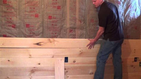 tongue  groove paneling intall video youtube