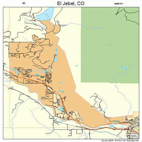 where is el co on map el jebel colorado map 0823795