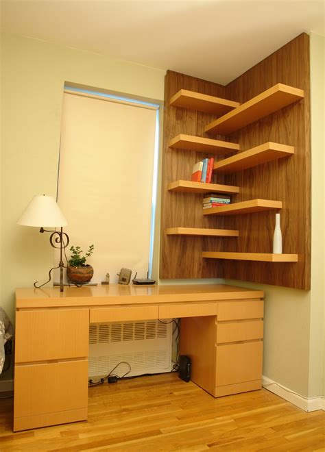 Office Corner Shelf by Clever Ways In Which A Corner Bookshelf Can Fill In The