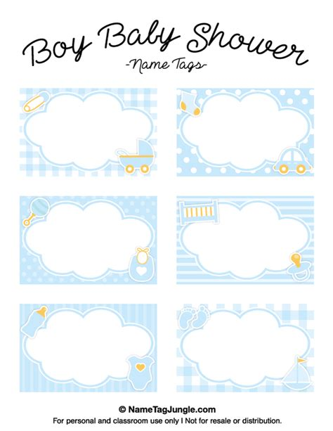 baby shower place cards template printable boy baby shower name tags