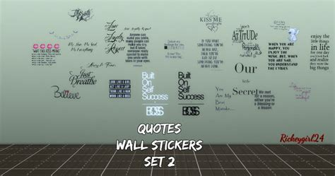 Sticker Quotes For Walls my sims 4 blog quotes posters and wall stickers by