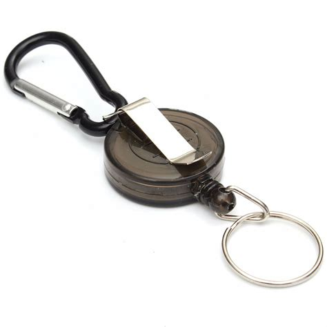 Multifunctional Retractable Carabiner With Key Chain Hitam multifunctional retractable carabiner with key chain black jakartanotebook