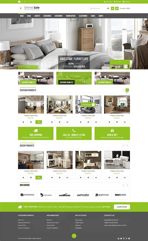 6 Real Estate Prestashop Themes Templates Free Premium Real Estate Responsive Website Templates Free