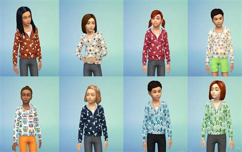 Set Boy Hm Suspender 4in1 Plaid s sims non default children clothes and shoes for