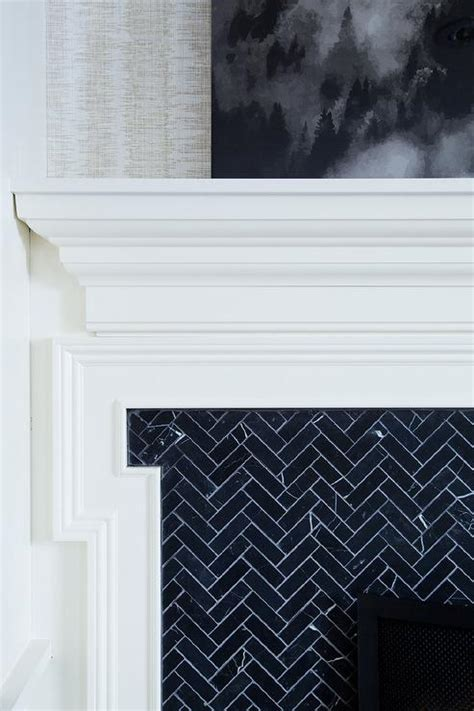 black and white fireplace fireplace tiles design ideas