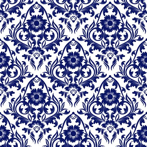 blue pattern background vector blue floral background vector free vector graphic download
