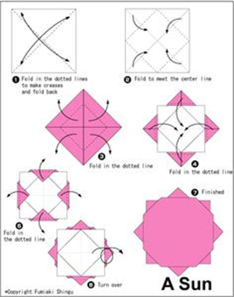 Origami Sun - wind and sun story craft ideas on sun catcher