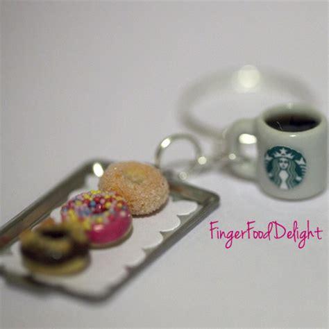Ke 106 Keychain Strawberry Delight Starbucks kawaii starbucks coffee and tray of donuts keychain 183 fingerfooddelight 183 store powered
