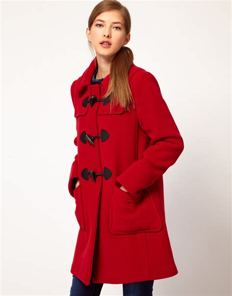 swing duffle coat gloverall swing duffle coat in check back wool with