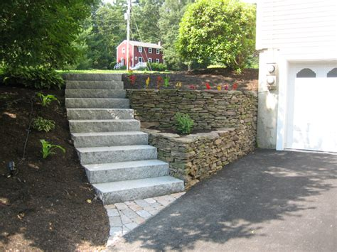 backyard stairs walls and stairs by tinakoral on pinterest retaining