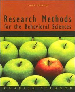 research methods for the behavioral sciences edition 3