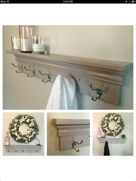 decorative bathroom towel racks towel hooks coat rack decorative shelf in light gray