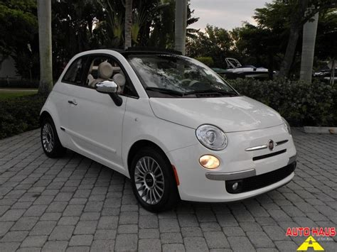 Fiat Of Ft Myers Used 2012 Fiat 500 C Lounge Convertible Ft Myers Fl For