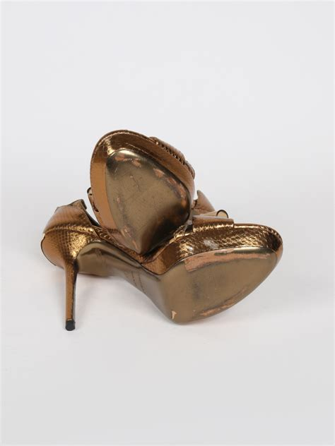 Burberry Gold burberry gold python bow sandals 37 luxury bags