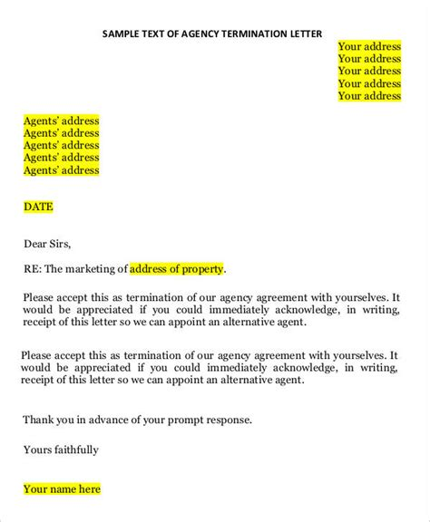 redundancy termination letter template uk 41 sle termination letter templates word pdf ai