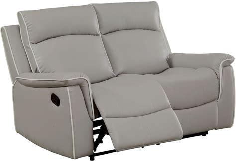 light grey recliner chair salome light gray recliner loveseat cm6798 lv furniture