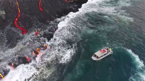 hawaii lava boat tour youtube lava ocean tours on lavaone youtube