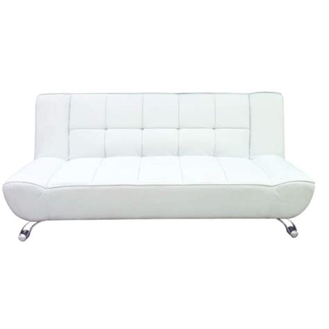White Sofa Bed Lpd Vogue Leather Sofa Bed In White Furniture123