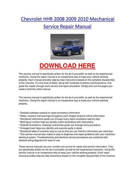 free service manuals online 2009 chevrolet hhr auto manual chevrolet hhr 2008 2009 2010 mechanical service repair manual by chevroletservice issuu