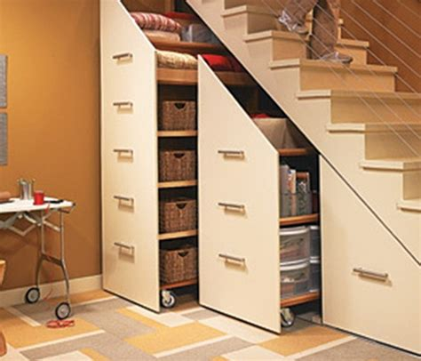 staircase storage simple ideas of how to save the living space ideas for
