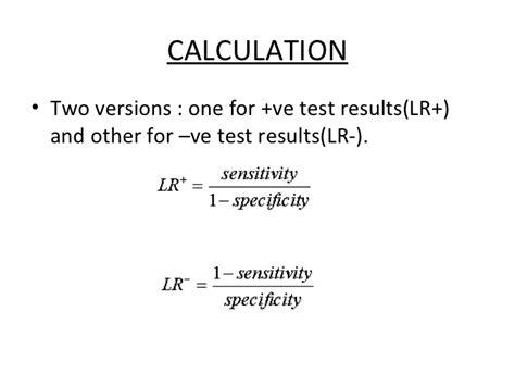 bi test falsi negativi predictive value and likelihood ratio