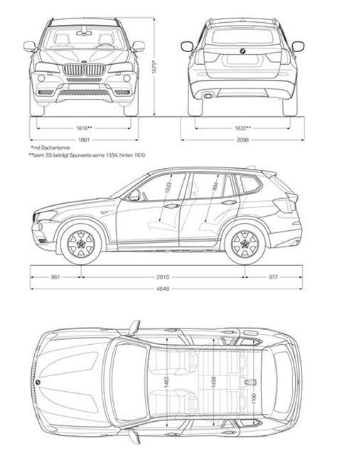 Abmessung Bmw X3 by Bmw Xdrive20d 2010 Autokatalog Ma 223 E Und Gewichte