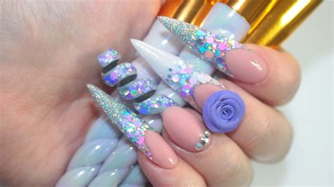 spiral pattern nails unicorn spiral acrylic nails funnydog tv