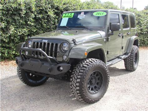 green jeep 2015 2015 jeep wrangler tank green sold