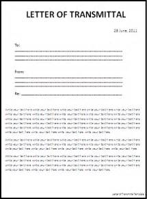 letter of transmittal template free printable word